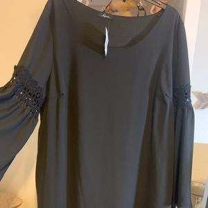 Soprano black rayon mini dress NWT 2X